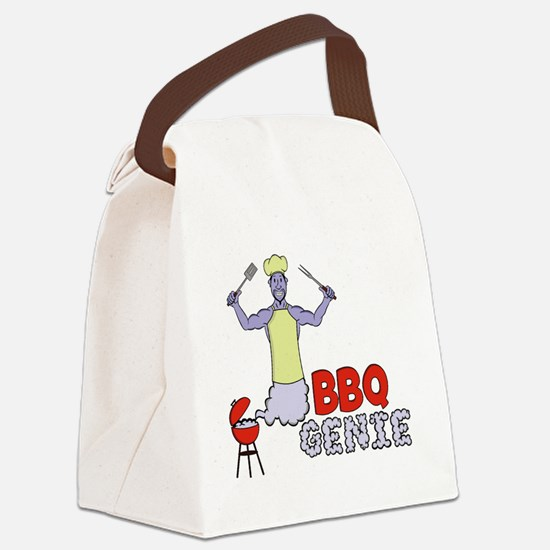 Cute Grilling smoking Canvas Lunch Bag