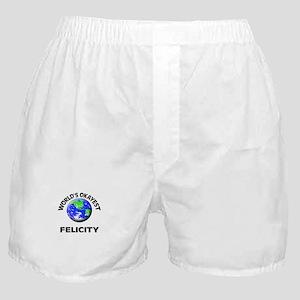 World's Okayest Felicity Boxer Shorts