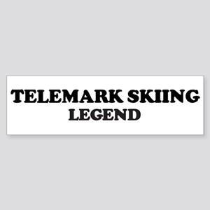 TELEMARK SKIING Legend Bumper Sticker