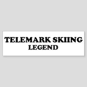 TELEMARK SKIING Legend Bumper Sticker