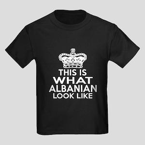 Albanian Look Like Designs Kids Dark T-Shirt