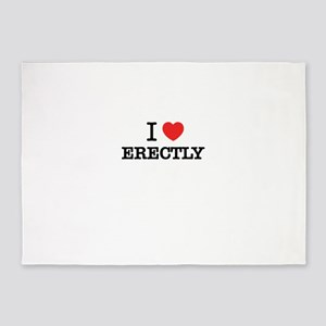 I Love ERECTLY 5'x7'Area Rug