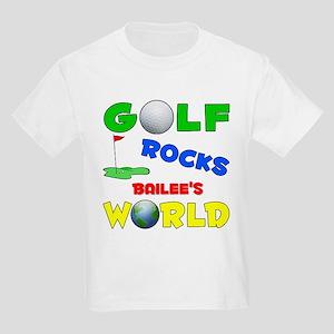 Golf Rocks Bailee's World - Kids Light T-Shirt