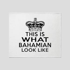 Bahamian Look Like Designs Throw Blanket