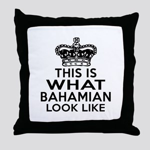 Bahamian Look Like Designs Throw Pillow