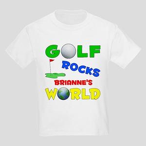 Golf Rocks Brianne's World - Kids Light T-Shirt
