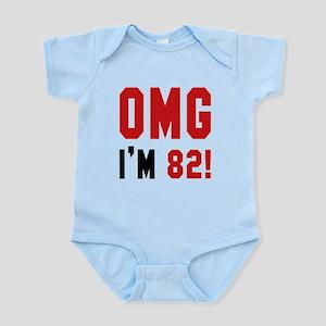 OMG I'm 82 Baby Light Bodysuit
