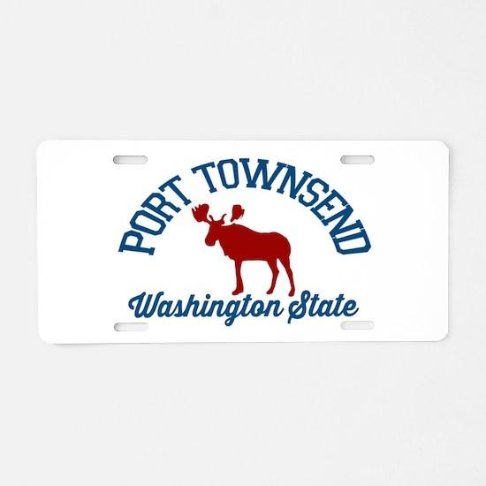 Port Townsend. Aluminum License Plate
