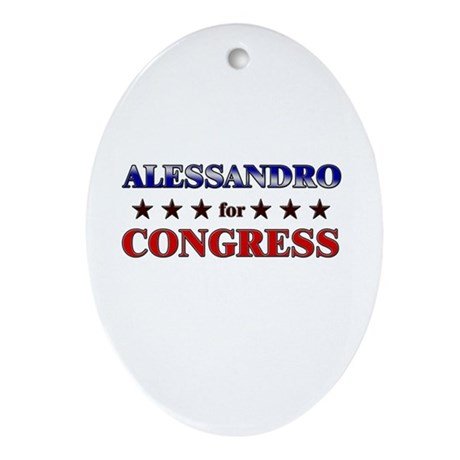 ALESSANDRO for congress Oval Ornament