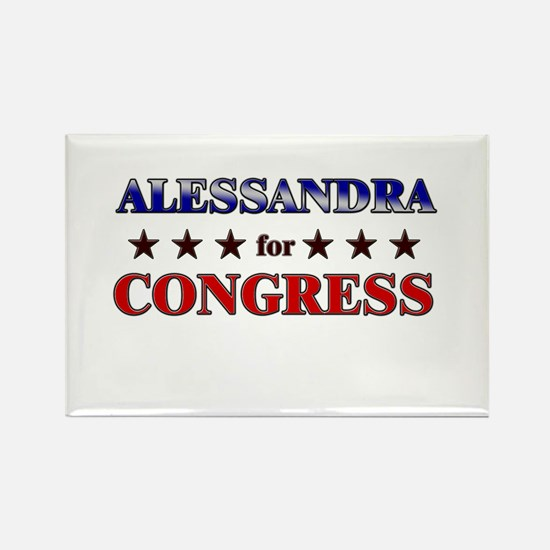 ALESSANDRA for congress Rectangle Magnet