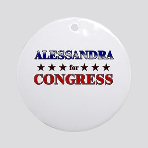 ALESSANDRA for congress Ornament (Round)
