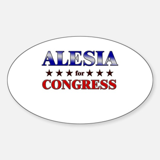 ALESIA for congress Oval Decal