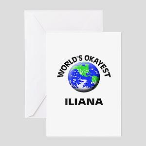 World's Okayest Iliana Greeting Cards