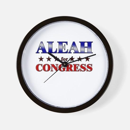 ALEAH for congress Wall Clock