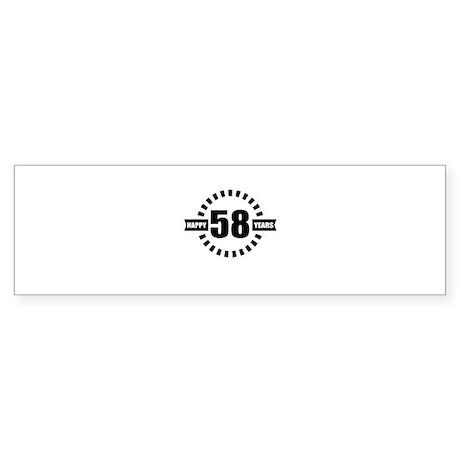 Happy 58 Years Birthday Des Sticker (Bumper 50 pk)