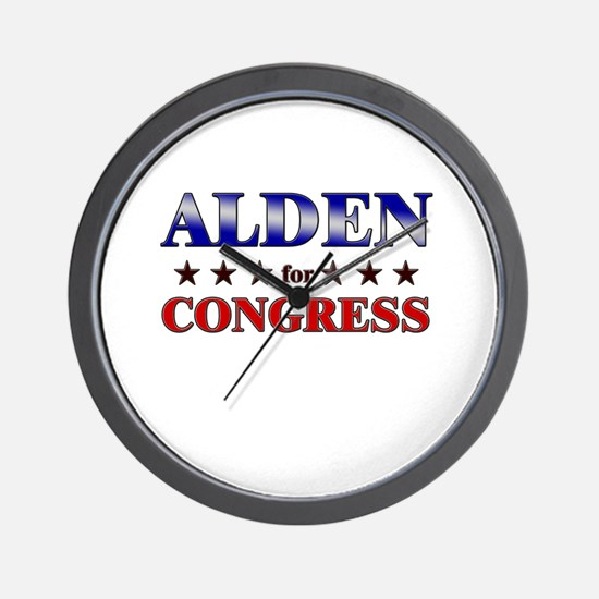 ALDEN for congress Wall Clock