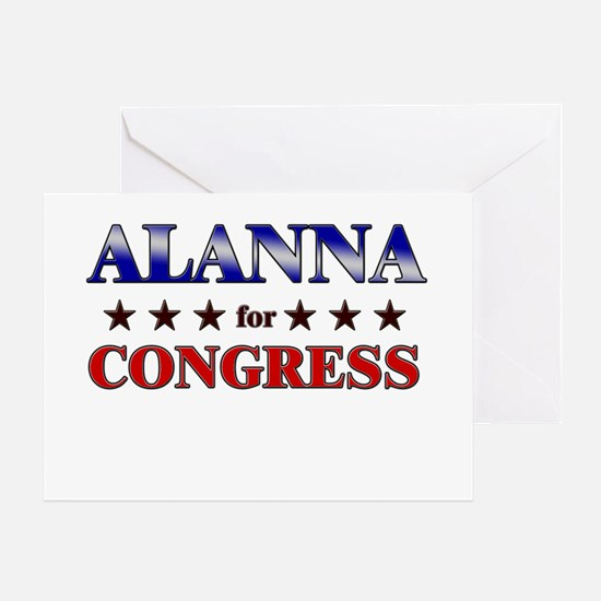 ALANNA for congress Greeting Card