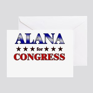 ALANA for congress Greeting Card