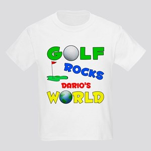 Golf Rocks Dario's World - Kids Light T-Shirt