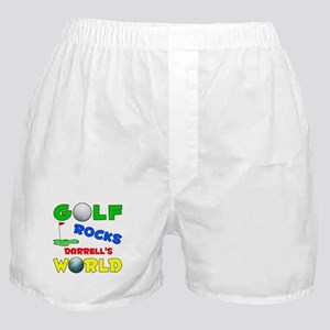 Golf Rocks Darrell's World - Boxer Shorts