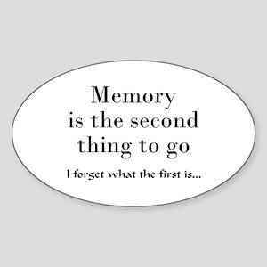Memory Oval Sticker