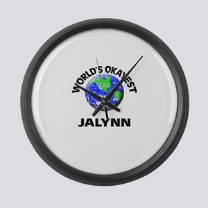 World's Okayest Jalynn Large Wall Clock