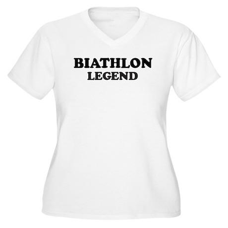 BIATHLON Legend Women's Plus Size V-Neck T-Shirt