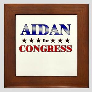 AIDAN for congress Framed Tile