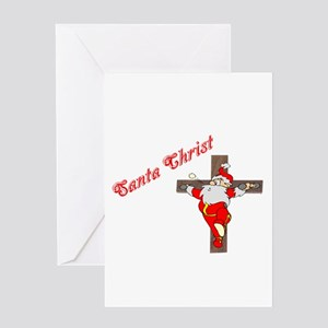 Santa Christ Christmas Gifts Greeting Card