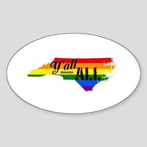 Y'all Means All North Carolina Sticker