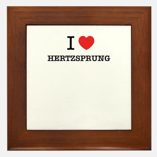 I Love HERTZSPRUNG Framed Tile