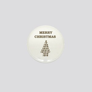 MERRY CHRISTMAS NUMBER TREE Mini Button