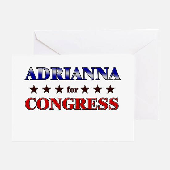 ADRIANNA for congress Greeting Card