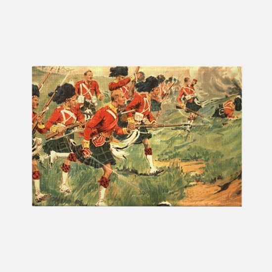 Gordon Highlanders Rectangle Magnet