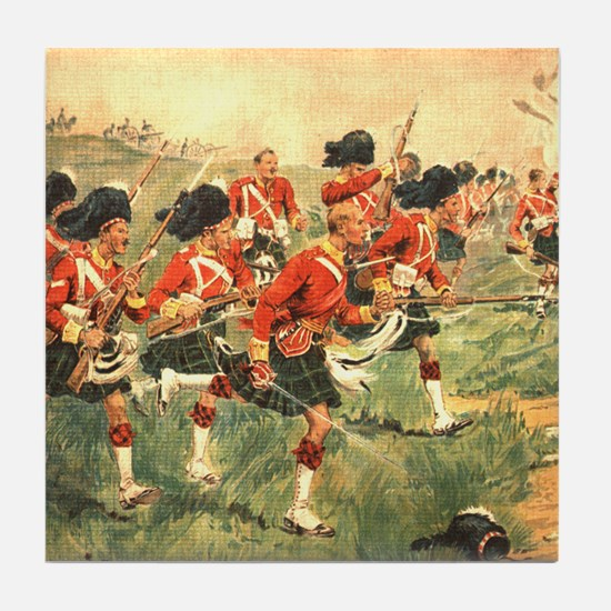 Gordon Highlanders Tile Coaster