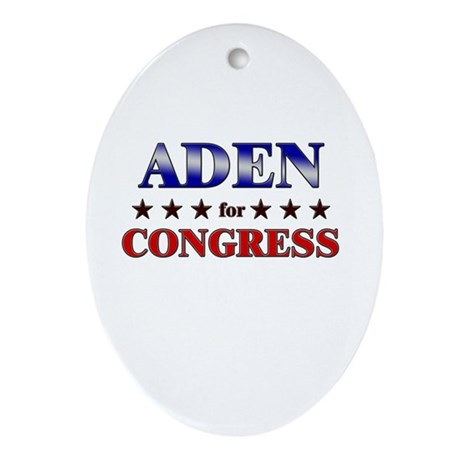 ADEN for congress Oval Ornament