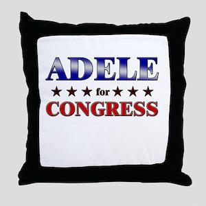 ADELE for congress Throw Pillow