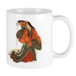 Coffee Mug with  Medieval Japanese Court Lady