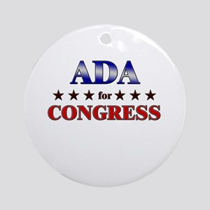 ADA for congress Ornament (Round)