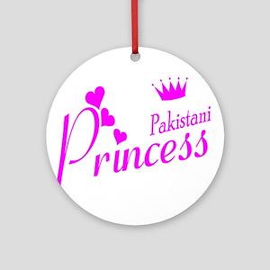 Pakistani Princess Ornament (Round)