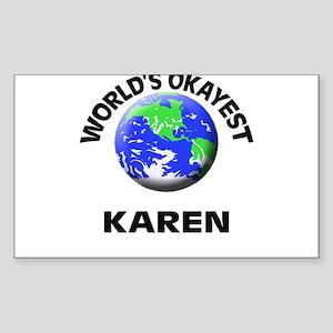 World's Okayest Karen Sticker