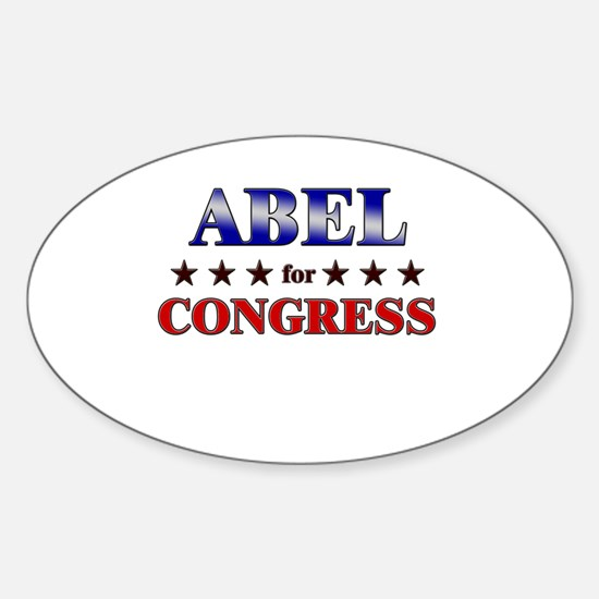 ABEL for congress Oval Decal