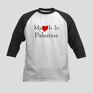 My Heart Is In Palestine Kids Baseball Jersey
