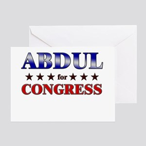 ABDUL for congress Greeting Card
