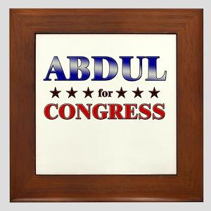 ABDUL for congress Framed Tile