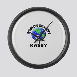 World's Okayest Kasey Large Wall Clock