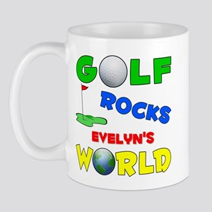 Golf Rocks Evelyn's World - Mug