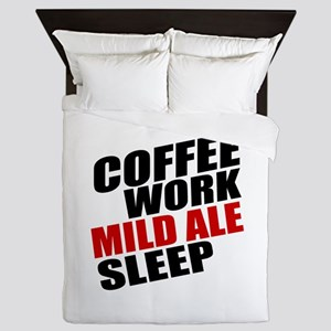 Coffee Work Mild Ale Sleep Queen Duvet