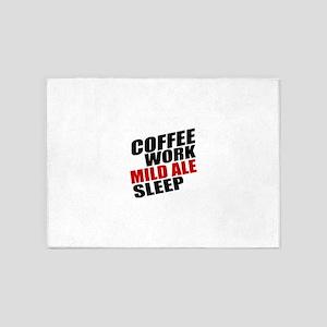 Coffee Work Mild Ale Sleep 5'x7'Area Rug