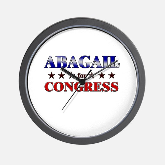 ABAGAIL for congress Wall Clock
